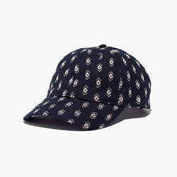 Jacquard Baseball Cap in Diamond Stitch