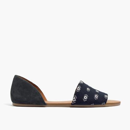 The Thea Sandal in Diamond Stitch