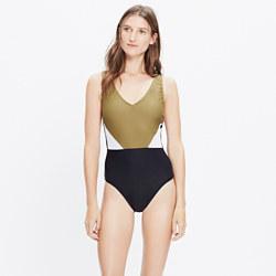 Giejo™ Colorblock V-Neck One-Piece Swimsuit