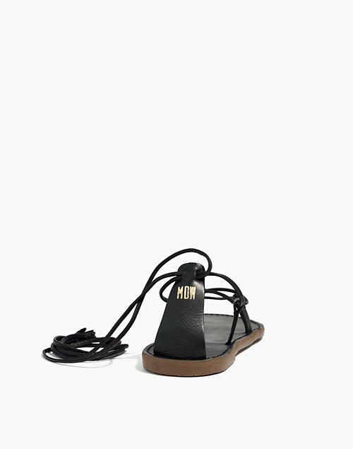 NEW Madewell The Boardwalk Lace-Up Sandal Black Leather Womens Shoes CHOOSE SIZE