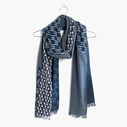 Indigo-Patch Scarf