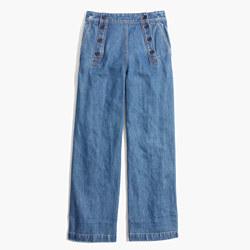 Rivet & Thread Sailor Wide-Leg Crop Jeans