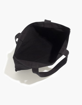The Reusable Canvas Tote in true black image 2