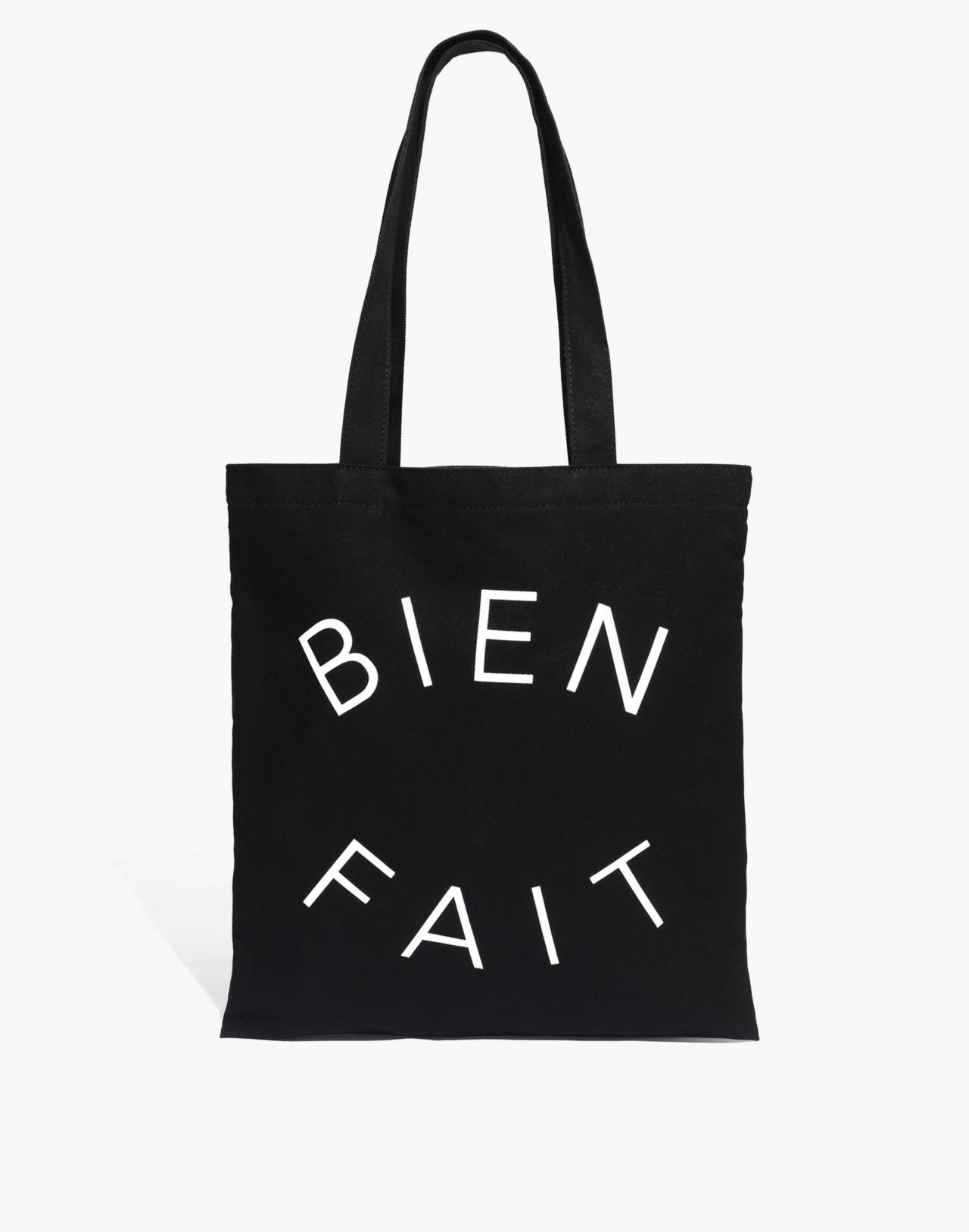 The Reusable Canvas Tote in true black image 1