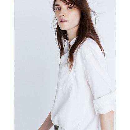 Drapey Oversized Boyshirt in Pure White : white shirts | Madewell