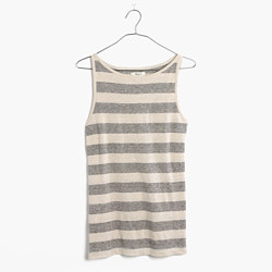 Modern Linen Tank Top in Stripe