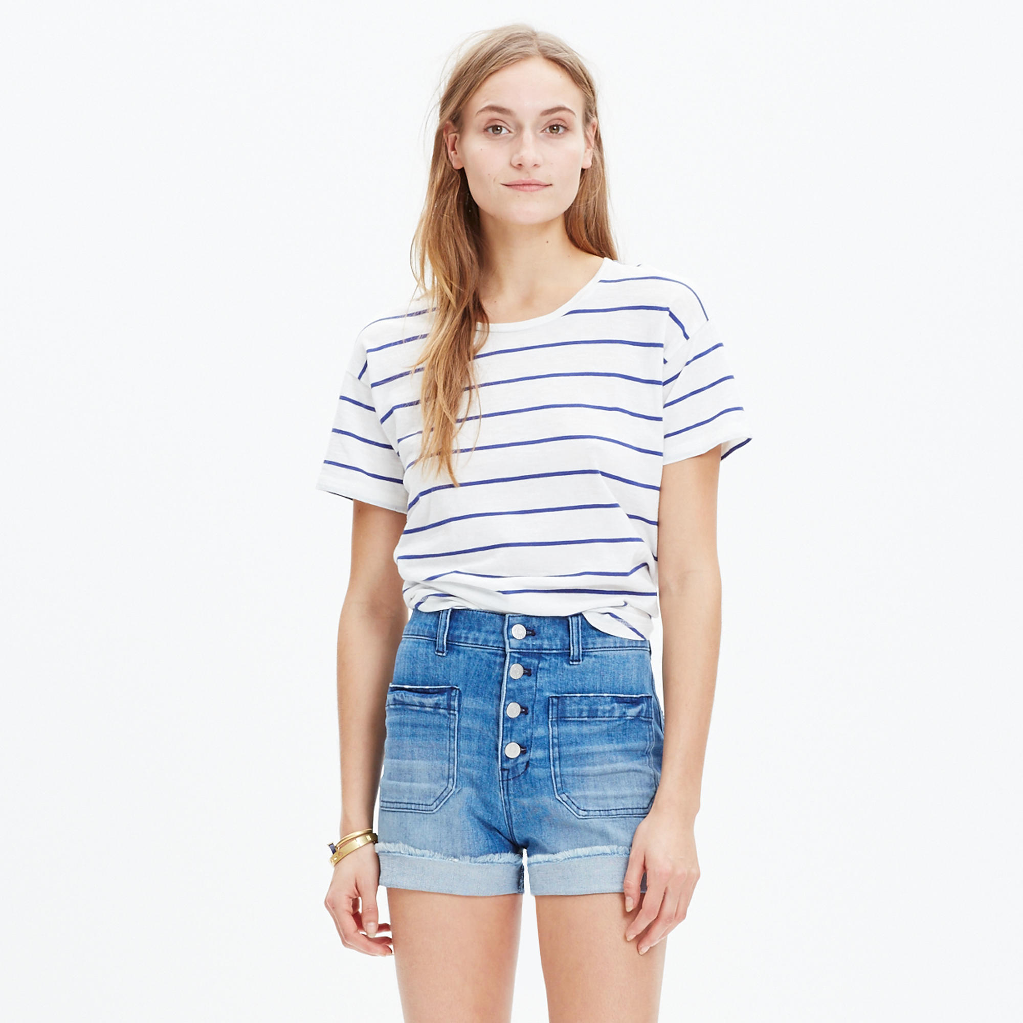 High-Rise Denim Shorts: Button-Front Edition : shorts | Madewell