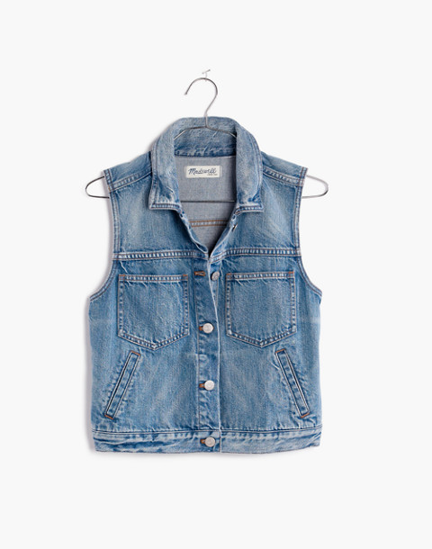 The Pocket Jean Vest in langley wash image 2