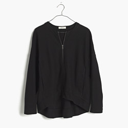 Zip-Front Texture Jacket