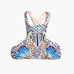 Mara Hoffman® Racerback Bikini Top in Peacock Print