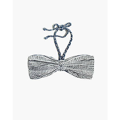 Mara Hoffman® Reversible Braided Bandeau Bikini Top in Peacock Stripe