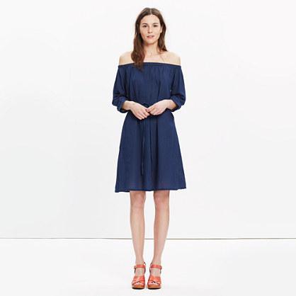 Indigo Off-the-Shoulder Dress