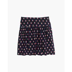 Silk Skyline Skirt in Ikat Dot