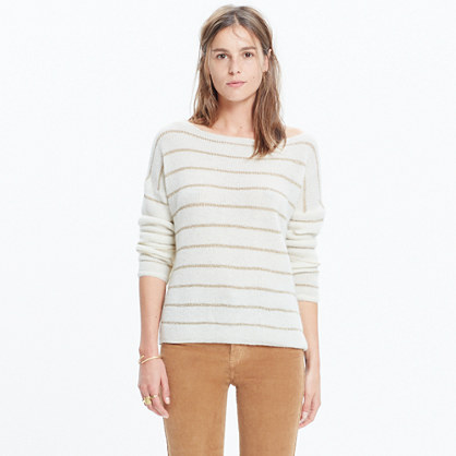 Sézane® Striped Boatneck Sweater
