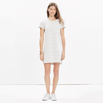Striped Button-Back Tee Dress
