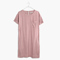 Filmscore Short-Sleeve Dress in Gingham Check