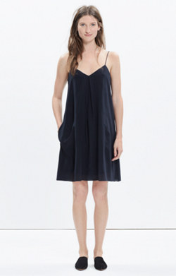 Silk Trapeze Cami Dress