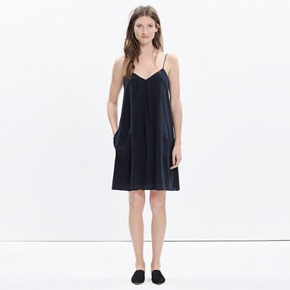 Silk Trapeze Cami Dress