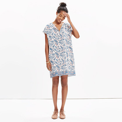 Silk Tunic Dress in Flora Paisley