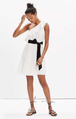 Eyelet One-Shoulder Montmartre Dress