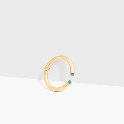 Grass Agate Hinge Bracelet