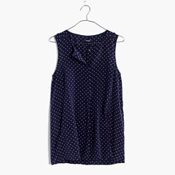 Silk Composition Tank Top in Dots & Stars