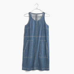Denim Utility Shift Dress