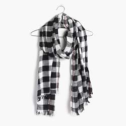 Embroidered Springcheck Scarf