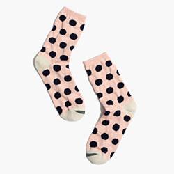Contrast Dot Trouser Socks