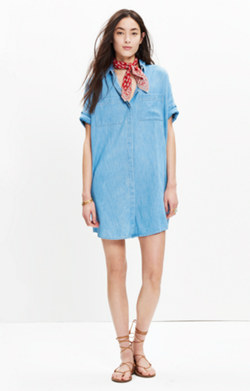 Denim Courier Shirtdress