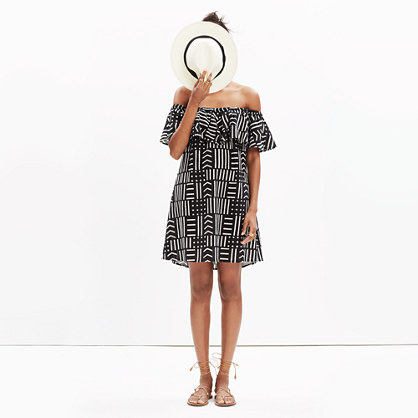 Rio Cover-Up Dress in Arrow Grid
