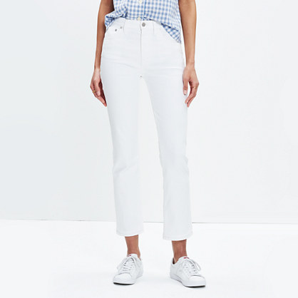 Cali Demi-Boot Jeans in Pure White