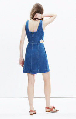 Denim Cutout Dress