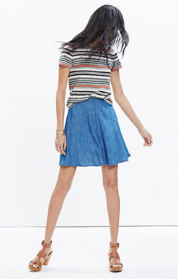Denim Piazza Skirt
