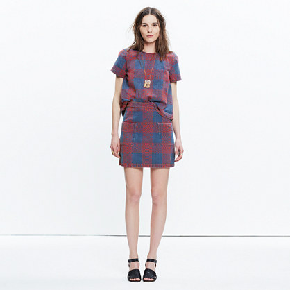 Rivet & Thread Embroidered Japanese Denim Skirt