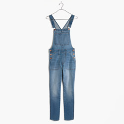 Skinny Crop Overalls in Hewitt Wash