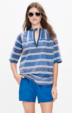 Ace&Jig™ Saltspring Top in Blue Jean Print
