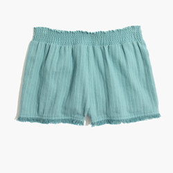 Porte Fringe Cover-Up Shorts