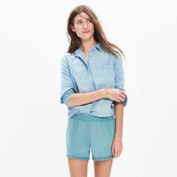 Porte Fringe Cover-Up Shorts