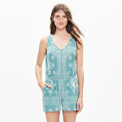 Beachcomber Cover-Up Romper in Bandana Print