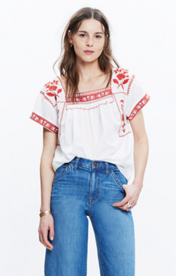 Embroidered Wildfield Top