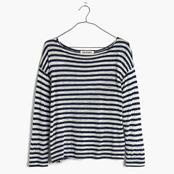 Rivet & Thread LA Three-Quarter Tee in Duvall Stripe