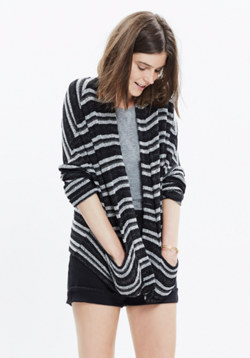 Striped Upbeat Cardigan
