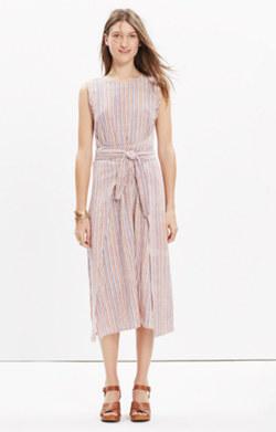 Caron Callahan™ Striped Wrap-Front Dress
