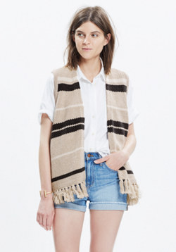 Coastward Fringe Sweater-Vest