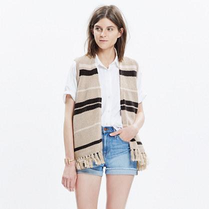 Coastward Fringe Sweater-Vest