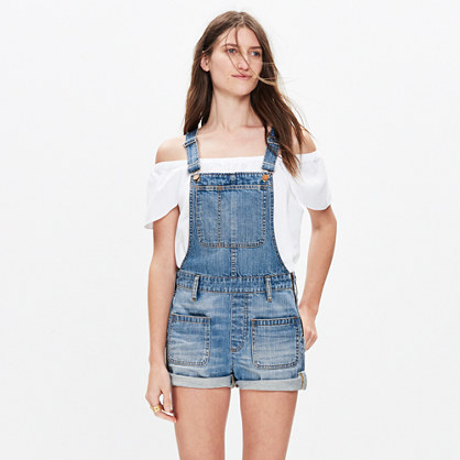 Adirondack Short Overalls in Isley Wash