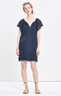 Embroidered Eyelet Moontide Dress