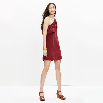 Silk One-Shoulder Dress