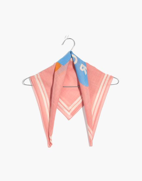 Bandana in peach blush multi image 1